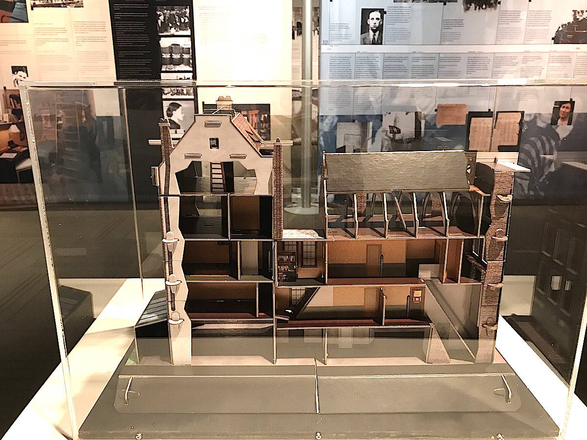 A model of the annex where the Frank family and their friends hid for two years in Amsterdam. It's part of the Anne Frank exhibit showing at the Red Deer museum. (Photo by LANA MICHELIN/Advocate staff).