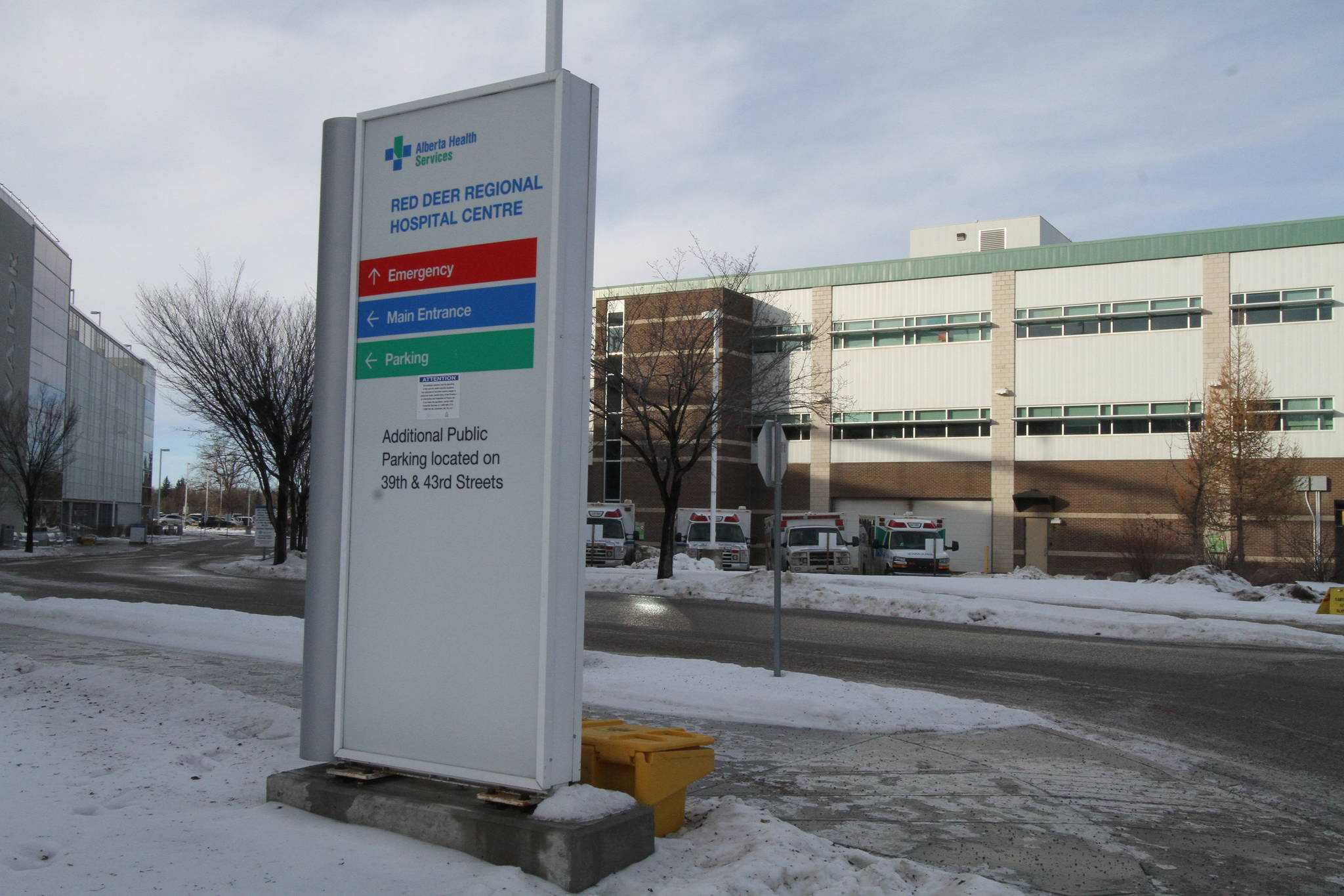 A July 2020 infrastructure report found Red Deer Regional Hospital Centre was not meeting AHS performance targets for emergency room wait times, length of stay, and had longer wait times for surgery. (File photo by Advocate staff)